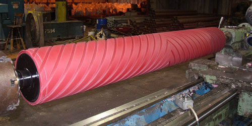 Industrial Polyurethane Covered Rollers
